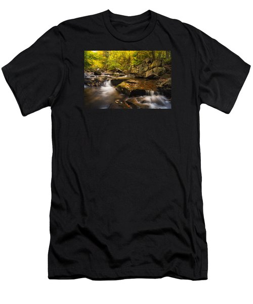 Men's T-Shirt (Slim Fit) featuring the photograph Fall At Gunstock Brook by Robert Clifford