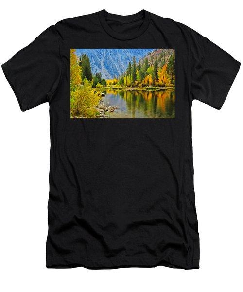 Fall At North Lake Men's T-Shirt (Athletic Fit)