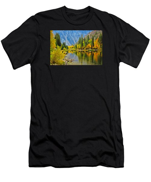 Fall At North Lake Men's T-Shirt (Athletic Fit)