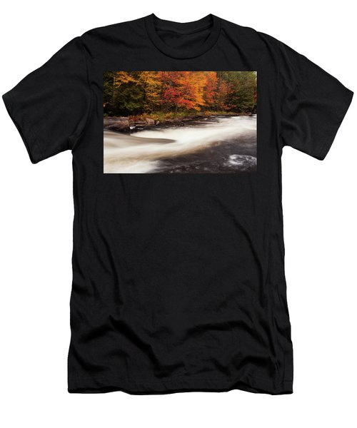 Fall At Oxtongue Rapids Men's T-Shirt (Athletic Fit)