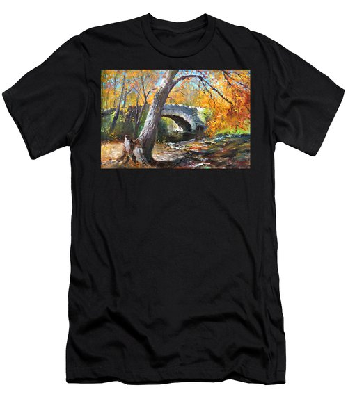 Fall At Three Sisters Islands Men's T-Shirt (Athletic Fit)