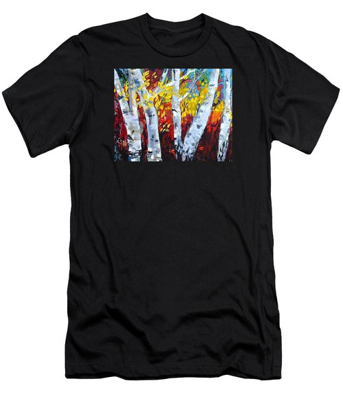 Fall Birch Trees Men's T-Shirt (Athletic Fit)