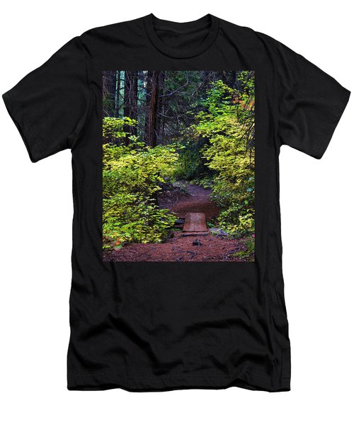 Metolius River Trail Fall Bridge Men's T-Shirt (Athletic Fit)
