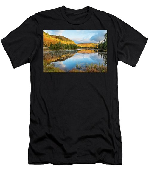 Fall By The Lake Men's T-Shirt (Athletic Fit)