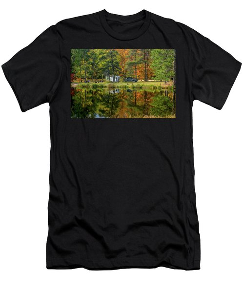 Fall Camping Men's T-Shirt (Athletic Fit)