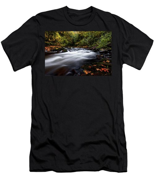 Fall Color At Cedar Creek Men's T-Shirt (Athletic Fit)
