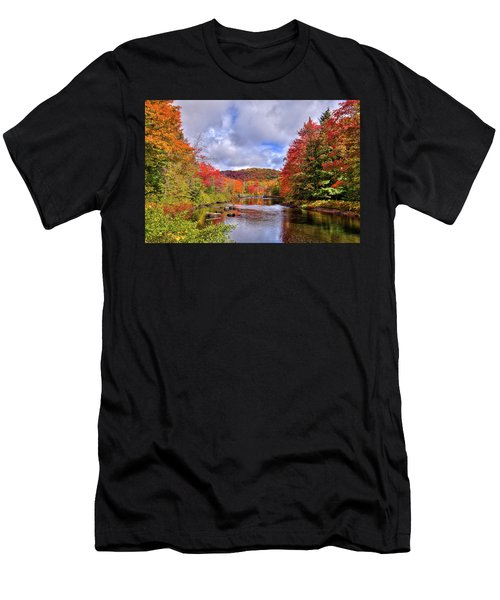Fall Color On The River Men's T-Shirt (Athletic Fit)
