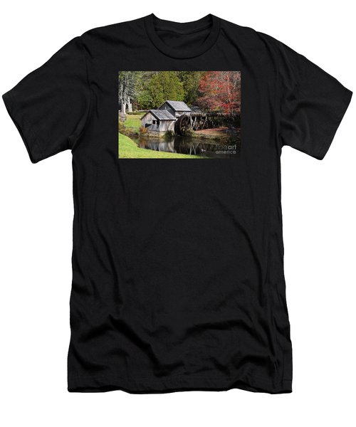 Fall Colors At Mabry Mill Blue Ridge Parkway Men's T-Shirt (Slim Fit) by Nature Scapes Fine Art