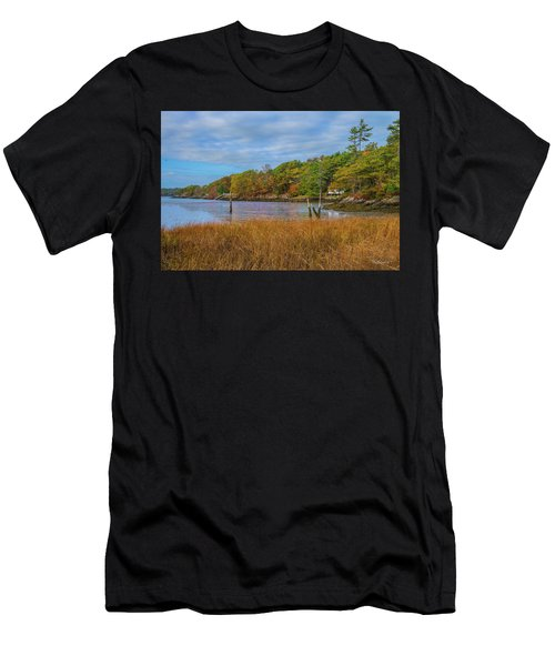 Fall Colors In Edgecomb Too Men's T-Shirt (Athletic Fit)