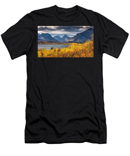 Fall Colors In Glacier National Park Men's T-Shirt (Athletic Fit)