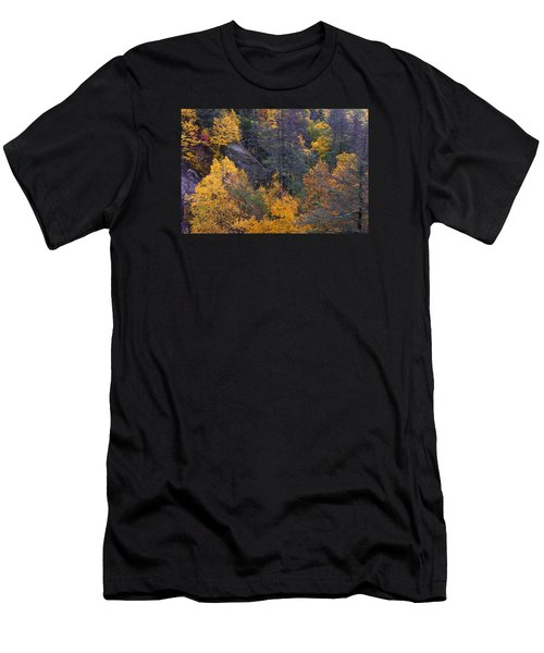 Men's T-Shirt (Athletic Fit) featuring the photograph Fall Colors by Ken Barrett