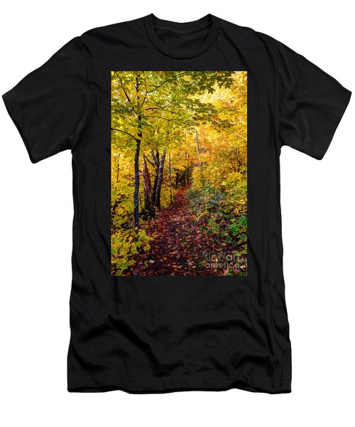 Fall Colors Oberg Mountain North Shore Minnesota Men's T-Shirt (Athletic Fit)