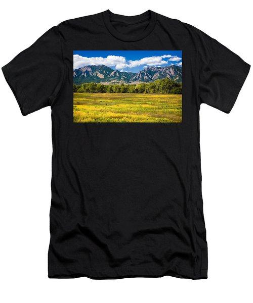 Fall Colors Of Boulder Colorado Men's T-Shirt (Athletic Fit)