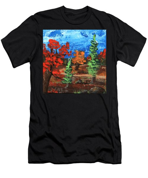 Men's T-Shirt (Athletic Fit) featuring the painting Fall Colours #1 by Anastasiya Malakhova