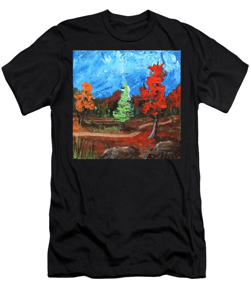 Men's T-Shirt (Athletic Fit) featuring the painting Fall Colours #2 by Anastasiya Malakhova