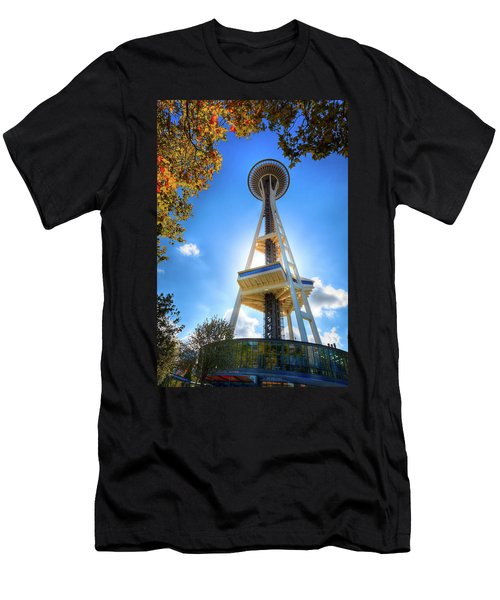 Fall Day At The Space Needle Men's T-Shirt (Athletic Fit)