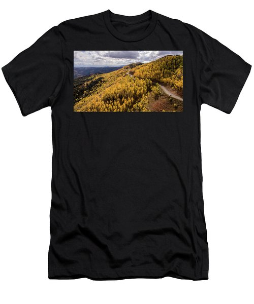 Men's T-Shirt (Athletic Fit) featuring the photograph Fall Drive by Wesley Aston