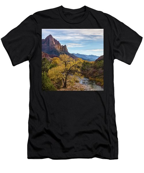 Fall Evening At Zion Men's T-Shirt (Athletic Fit)