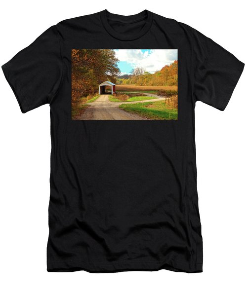 Fall Harvest - Parke County Men's T-Shirt (Athletic Fit)