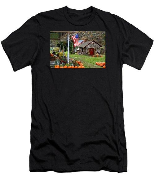 Men's T-Shirt (Slim Fit) featuring the photograph Fall Harvest - Rural America by DJ Florek