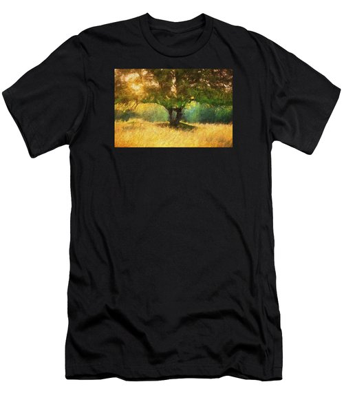Fall In The Meadow Men's T-Shirt (Athletic Fit)