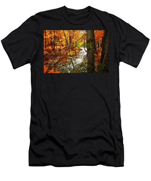 Fall In The Mountains Men's T-Shirt (Athletic Fit)