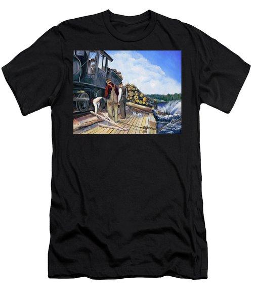 Fall Lake Train Men's T-Shirt (Athletic Fit)
