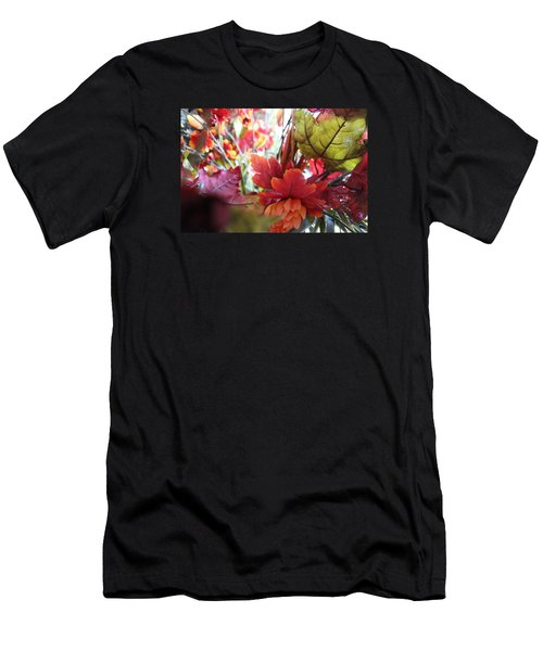 Fall Leaves Design 2 Men's T-Shirt (Athletic Fit)