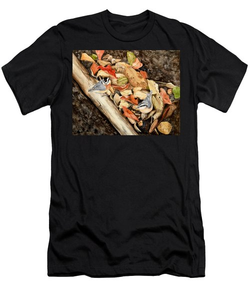 Fall Nuthatch Pair Men's T-Shirt (Athletic Fit)