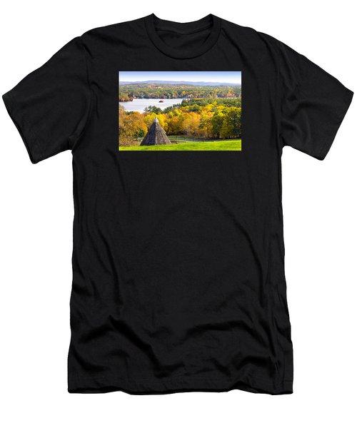 Fall On Lake Winnipesaukee At Center Harbor Men's T-Shirt (Athletic Fit)