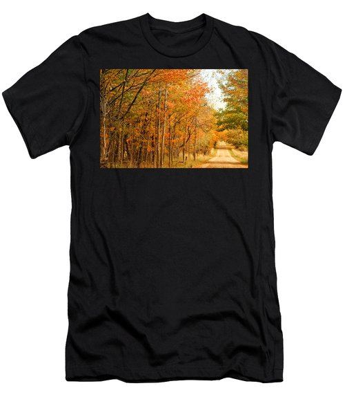 9012 - Fall On Murphy Lake II Men's T-Shirt (Athletic Fit)
