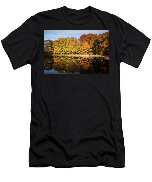 Fall Ontario Forest Reflecting In Pond  Men's T-Shirt (Athletic Fit)
