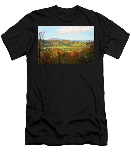 Fall Porch View Men's T-Shirt (Athletic Fit)