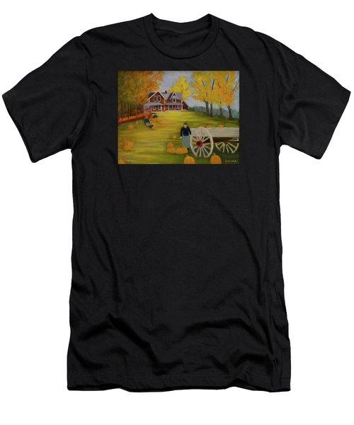 Fall Pumpkin Harvest Men's T-Shirt (Athletic Fit)