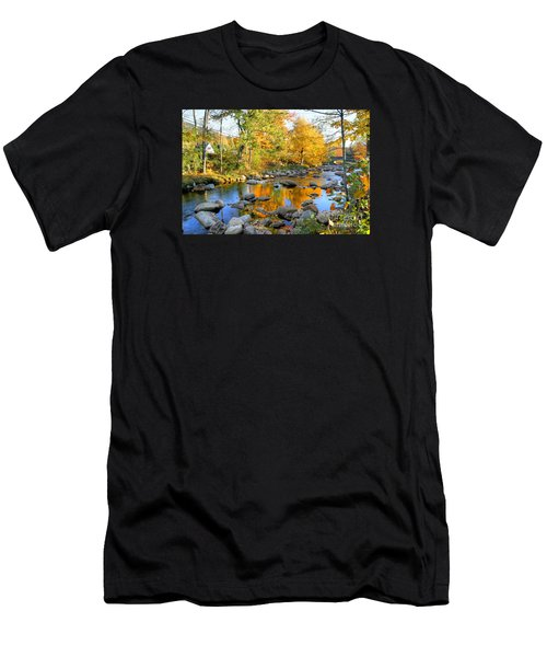 Fall Reflections In Jackson Men's T-Shirt (Athletic Fit)