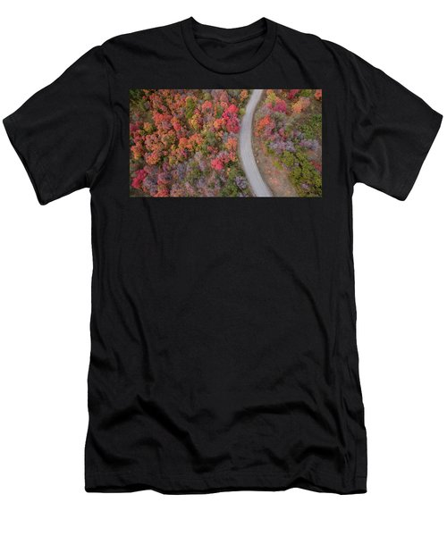 Men's T-Shirt (Athletic Fit) featuring the photograph Fall Road by Wesley Aston