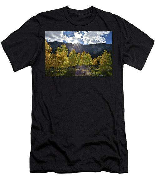 Fall Sun Setting Over Mt. Charleston Men's T-Shirt (Athletic Fit)