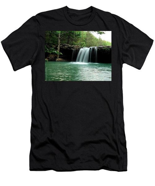 Falling Water Falls Men's T-Shirt (Athletic Fit)