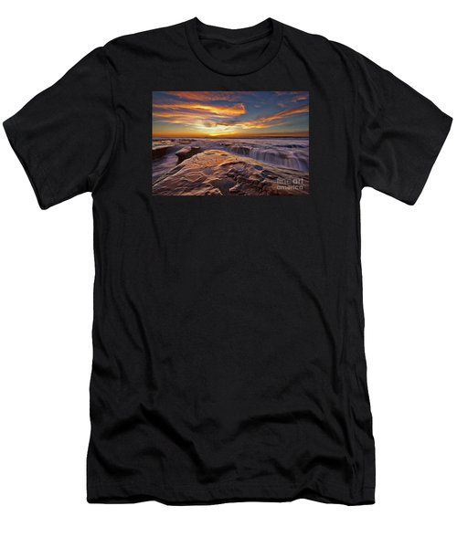 Falling Water Men's T-Shirt (Slim Fit) by Sam Antonio Photography