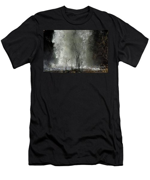 Falling Waters Men's T-Shirt (Slim Fit) by Vicki Pelham