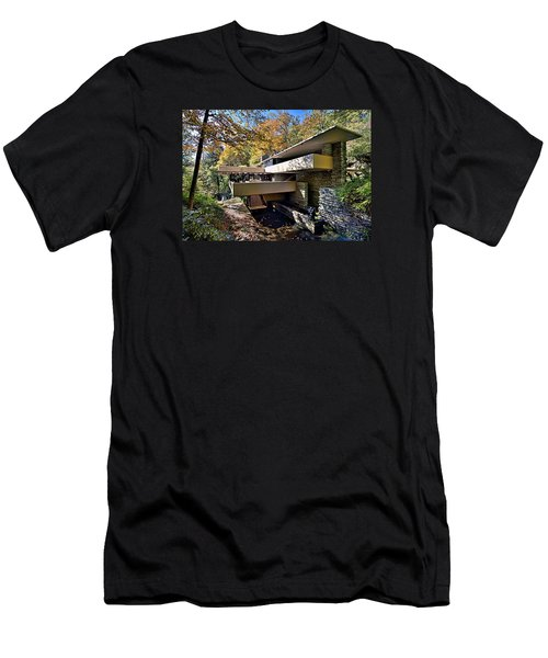 Fallingwater Pennsylvania - Frank Lloyd Wright Men's T-Shirt (Slim Fit) by Brendan Reals