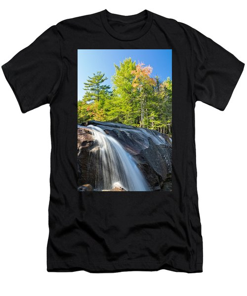 Men's T-Shirt (Athletic Fit) featuring the photograph Falls Diana's Baths Nh by Michael Hubley