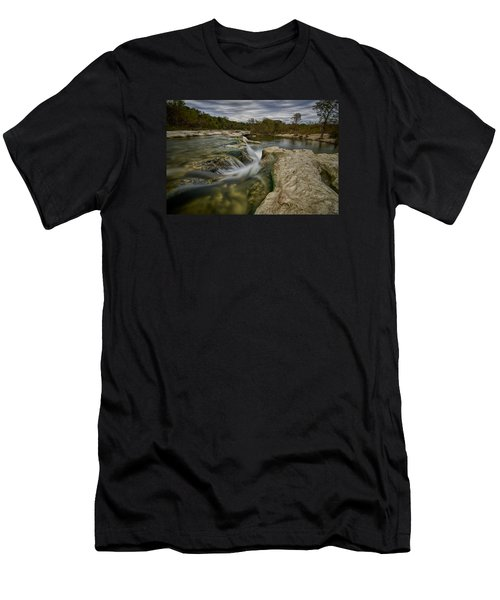 Texas Hill Country Falls Men's T-Shirt (Athletic Fit)