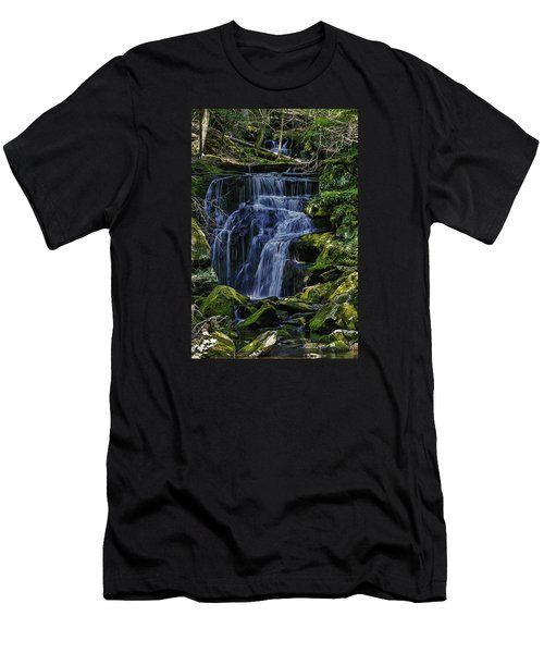 Falls In Vermont Mountain Stream  Men's T-Shirt (Athletic Fit)