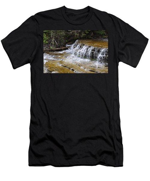 Falls Of The Au Train Men's T-Shirt (Athletic Fit)