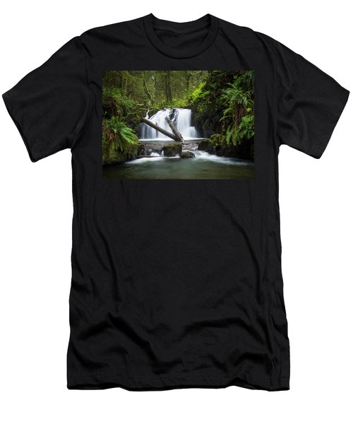 Falls On Canyon Creek Men's T-Shirt (Athletic Fit)