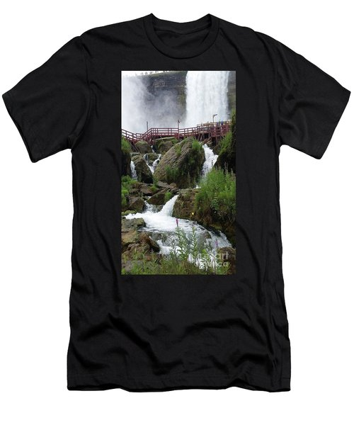 Men's T-Shirt (Slim Fit) featuring the photograph Falls by Raymond Earley