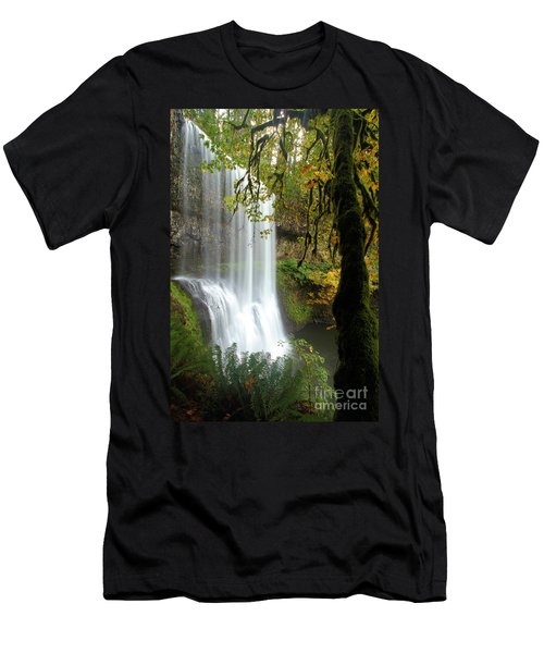 Falls Though The Trees Men's T-Shirt (Athletic Fit)