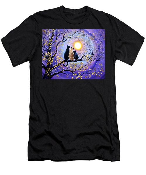 Family Moon Gazing Night Men's T-Shirt (Athletic Fit)