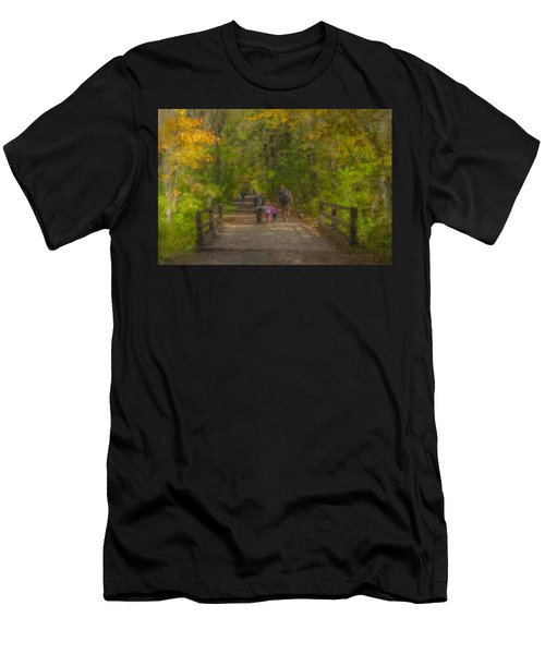 Family Walk At Borderland Men's T-Shirt (Athletic Fit)